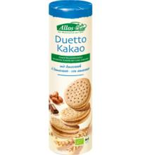 Allos Duetto - Doppelkekse mit Kakaocremefüllung, 330 gr Packung
