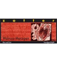 Zotter Walnuss-Marzipan Schokolade, 70 gr Stück
