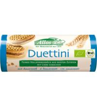 Allos Duettini - Mini-Doppelkekse mit 30% Kakaocreme, 90 gr Packung