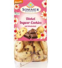 Sommer Dinkel-Ingwer Cookies, mit Schokostückchen,150 gr Packung