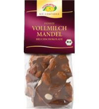 Rosengarten Bruchschokolade Vollmilch Mandel, 110 gr Packung