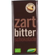 dennree Zartbitterschokolade, 100 gr Stück