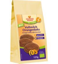 Hammermühle -glutenfrei- Volllmilch-Orangenkeks, 125 gr Packung -glutenfrei-
