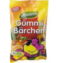 dennree Gummi-Bärchen, 100 gr Packung