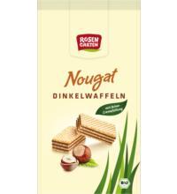 Rosengarten Nougat Dinkelwaffeln, 100 gr Packung