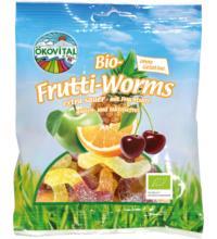 Ökovital Frutti-Worms, 100 gr Packung -ohne Gelatine-