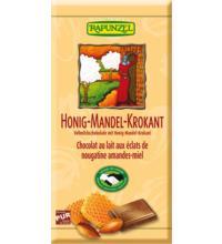 Rapunzel Vollmichschokolade Honig-Mandel-Krokant HIH, 100 gr Stück