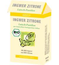 Aries Ingwer-Zitrone-Lutsch-Pastillen, 30 gr Packung