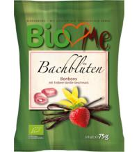 BIO loves Me Bachblüten Bonbons Erdbeer-Vanille 75 gr Packung