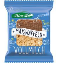 Allos Amaranth Mais Waffeln mit Vollmilchschokolade, 37,5 gr Packung