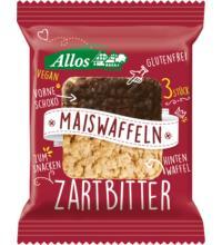 Allos Amaranth Mais Waffeln mit Zartbitterschokolade, 37,5 gr Packung