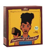 Allos Amaranth Schokolette-Zartbitterriegel, 5er Pack, 140 gr Packung