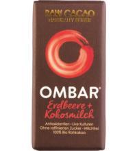 Ombar Erdbeer Roh-Schokolade Probiotisch, 35 gr Stück