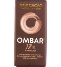 Ombar Dunkel 72% Roh-Schokolade Probiotisch, 35 gr Stück