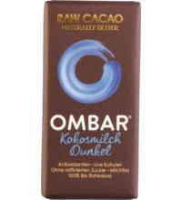 Ombar Kokosnuss Roh-Schokolade Probiotisch dunkel, 35 gr Stück