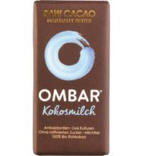 Ombar Kokosmilch Roh-Schokolade Probiotisch hell, 35 gr Stück