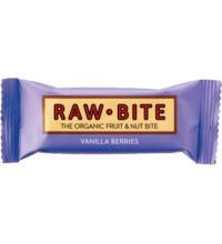 RAW BITE Fruchtriegel Vanilla Berries, 50 gr Stück