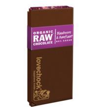 Lovechock Blaubeere & Hanfsaat RAW Chocolate, 70 gr Stück