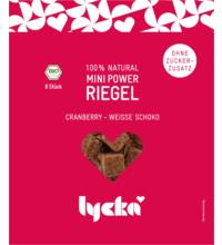 Lycka Mini Power-Riegel Cranberry-Weisse Schoko, 80 gr Packung