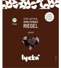 Lycka Mini Power-Riegel Kakao, 80 gr Packung