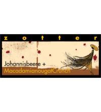 Zotter Johannisbeere mit Macadamia Nougat Crunch, 70 gr Stück