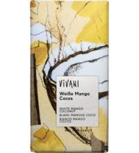 Vivani Weiße Mango Cocos Schokolade, 80 gr Stück