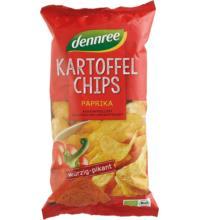 dennree Kartoffelchips Paprika, 125 gr Packung