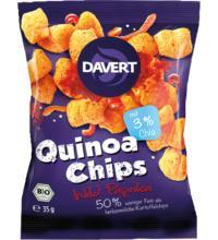Davert Quinoa Chips Wild Paprika, 35 gr Packung