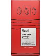 Vivani Zartbitter-Marzipan-Amaretto Schokolade, 100 gr Stück