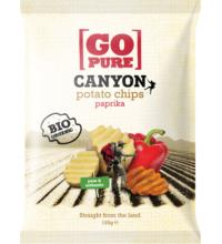 Go Pure Canyon Chips paprika, 125 gr Packung