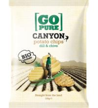 Go Pure Canyon Chips dill & chive, 125 gr Packung