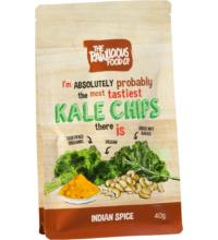 Rawlicious KALE Grünkohlchips Indian Spice, 40 gr Packung