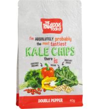 Rawlicious KALE Grünkohlchips Double Pepper, 40 gr Packung
