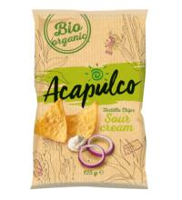 Acapulco Tortilla Chips Sour Cream & Onion, 125 gr Packung