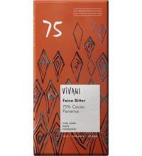 Vivani Feine Bitter 75%, 80 gr Stück