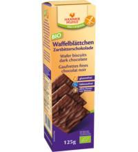 Hammermühle -glutenfrei- Zartbitter- Waffelblättchen, 125 gr Packung -glutenfrei-