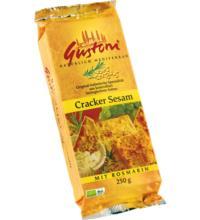 Gustoni Cracker Sesam, mit Rosmarin, 250 gr Packung