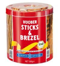 Huober Brezel Sticks & Brezel, 300 gr Dose
