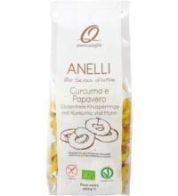 Romina s.r.o Anelli mit Kurkuma und Mohn, 200 gr Packung -glutenfrei-