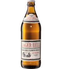 Brauerei Clemens Härle Lager Hell, 0,5 ltr Flasche