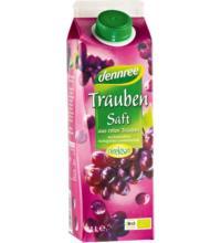 dennree Traubensaft aus roten Trauben, ohne Zuckerzusatz, 1 ltr Elopak