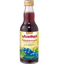 Voelkel Traubensaft, rot - 100% Direktsaft, 0,2 ltr Flasche