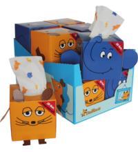 Die Maus Displaykarton, 1 Karton Taschentücher
