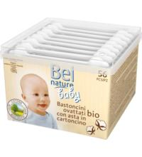 Bel Nature Bio-Baby-Wattestäbchen, 56 St Packung