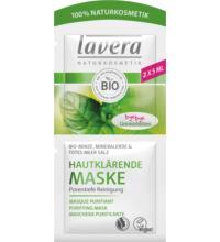 lavera Hautklärende Maske, 2x 5 ml Beutel