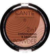 Sante 2in1 Contouring & Bronzer Powder 02 Medium-Dark, 9 gr Stück