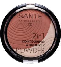 Sante 2in1 Contouring & Bronzer Powder 01 Light-Medium, 9 gr Stück