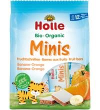 Holle Minis Fruchtschnitten Banane Orange, 8x 12,5 gr Packung