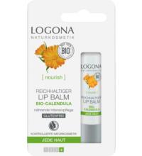 Logona Reichhaltiger Lip Balm, Bio-Calendula, 4,5 gr Stück
