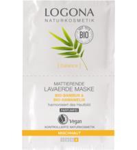 Logona Mattierende Lavaerde Maske, Bambus & Hamamelis, 15 ml Stück